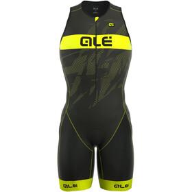 Alé Cycling Triathlon Long Record Tri Body Men Front Zipper black-fluo yellow